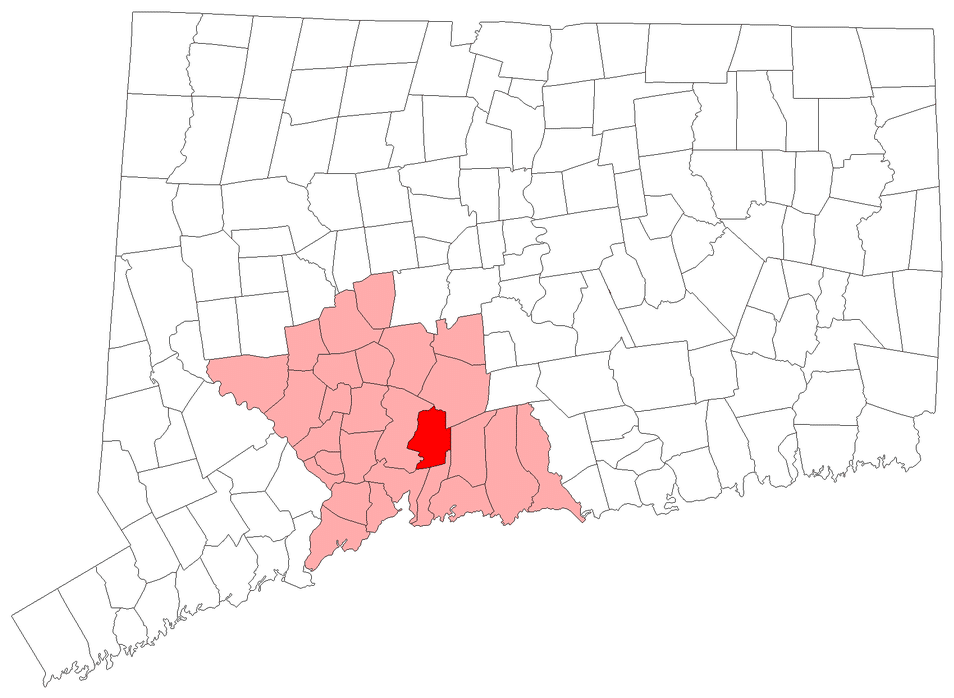 Location of North Haven in New Haven County, Connecticut